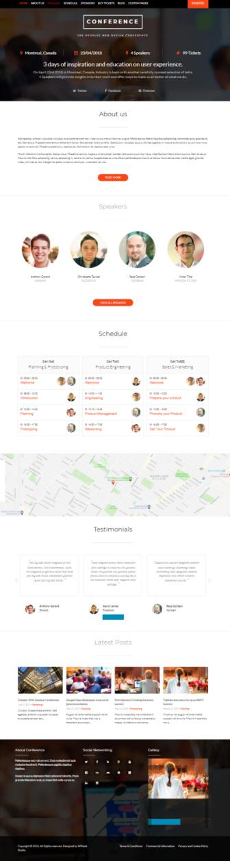 Conference Demo - WPLOOK WordPress Events Theme