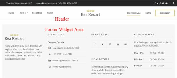 Kea Theme - Header Footer