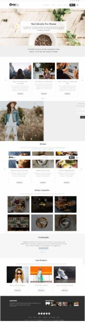 Mai Lifestyle Pro StudioPress - Genesis Food Blog Theme