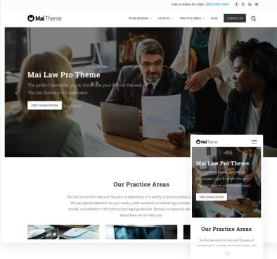 Mai Law Pro Lawyer WordPress Genesis Theme - StudioPress
