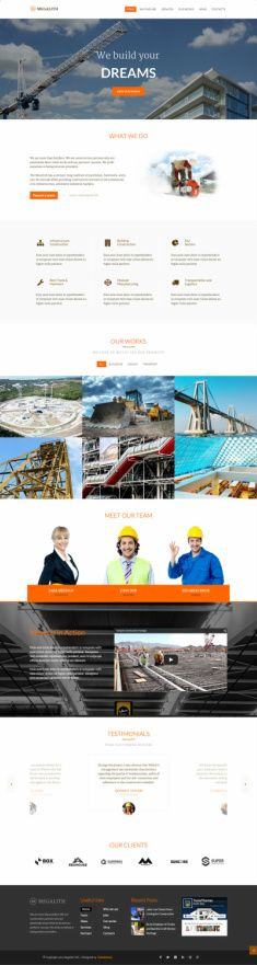 Megalith TeslaThemes - Construction WordPress Theme